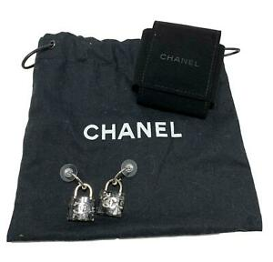 CHANEL-RESIN-PADLOCK-EARRINGS-WITH-POUCH