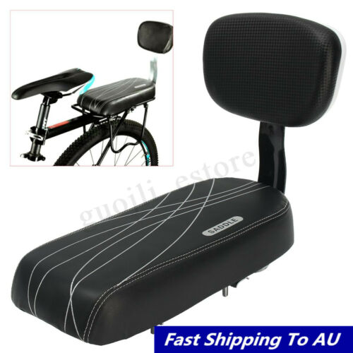 Black Bicycle Comfort Gel Bike Back Seat Pad Cushion Cover Back Rest Wide Saddle