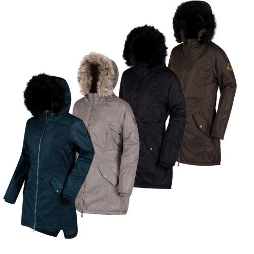 Regatta Womens//Ladies Lucetta Insulated Wind Waterproof Breathable Long Jacket