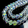 Hot  Rondelle Faceted Crystal Glass Loose Beads 3~12mm DIY Finding CLEAR AB