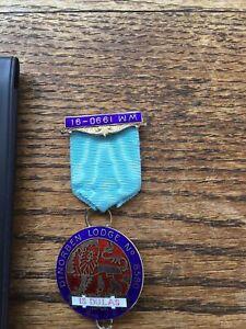 VIntage Masonic 1989 London HM Silver/Enamel PM Jewel Dinorben Lodge No.8580