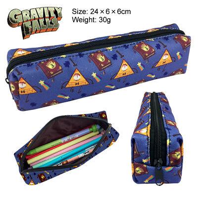 New Gravity Falls Bill Cipher Pen bag Canvas Zipper Make Up Bag Pencil Case Gift