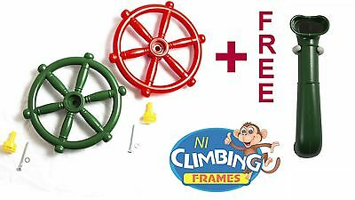 plastic STEERING WHEEL and TELESCOPE for CLIMBING FRAMES outdoor toys