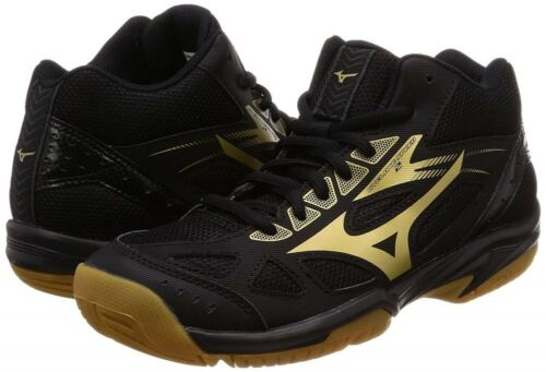 New Mizuno Women/'s Volleyball Shoes CYCLONE SPEED 2 MID V1GC1985 52 Black x Gold