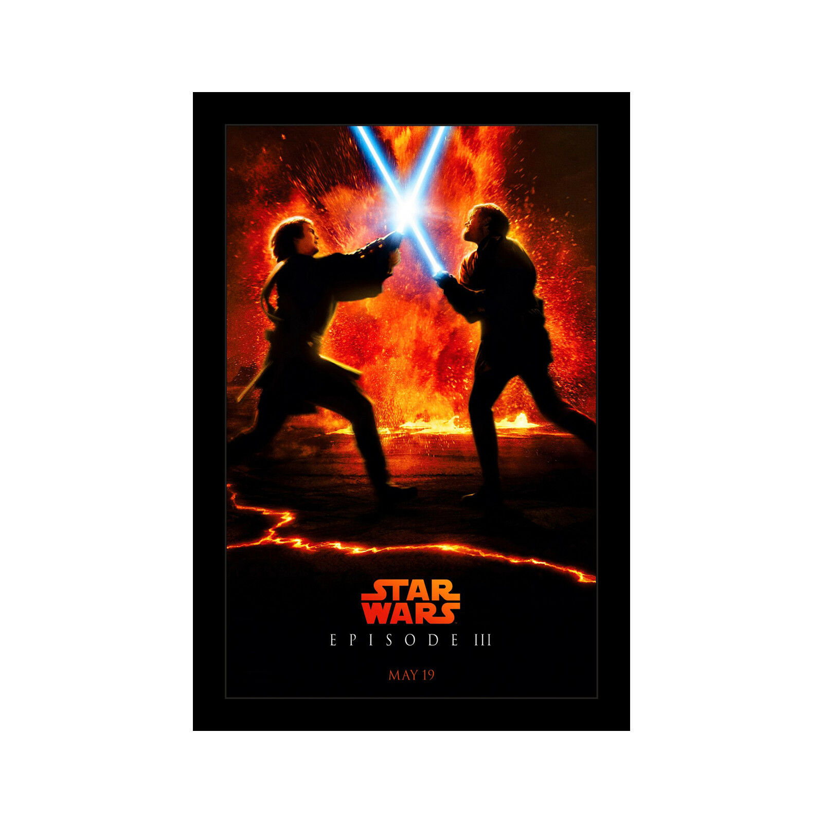 Star Wars Revenge Of The Sith 11x17 Framed Movie Poster By Wallspace For Sale Online