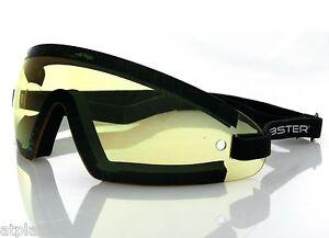 Lunettes-moto-BOBSTER-WRAP-AROUND-jaunes