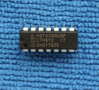 10pcs HEF4069UBP DIP-14 HEF4069BP HEF4069 CD4069BE Hex Inverter
