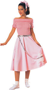 FANCY-DRESS-LADIES-50-039-S-PINK-POODLE-DRESS-MED-12-14