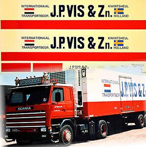 scania j p vis zn holland nl 1 87 truck decal lkw. Black Bedroom Furniture Sets. Home Design Ideas