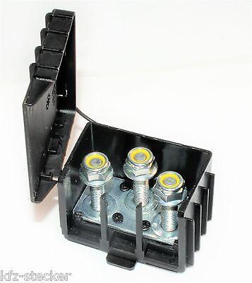 12 Punkt M6 M4 Massepunkt Stromverteiler Stromverteilug Strompunkt schwarz 1025