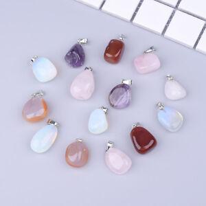 5-10PC-Cristallo-Pietra-Collana-a-un-Pendente-Ciondoli-Colore-misto-per-gioielli