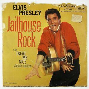 ELVIS-PRESLEY-Jailhouse-Rock-Treat-Me-Nice-7IN-1957-ROCK-039-N-ROLL-G-NM
