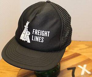 0584ce19935 VINTAGE TP FREIGHT LINES TRUCKING PORTLAND OREGON HAT BLACK SNAPBACK ...