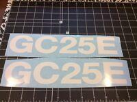 Forklift Decal, Daewoo Model Gc25e Hood Vinyl Decal Set Of 2 Decals