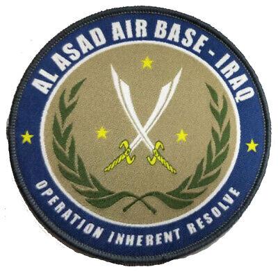 """AL UDEID  AIR FORCE BASE QATAR HOOK LOOP  3.75/"""" PATCH"""