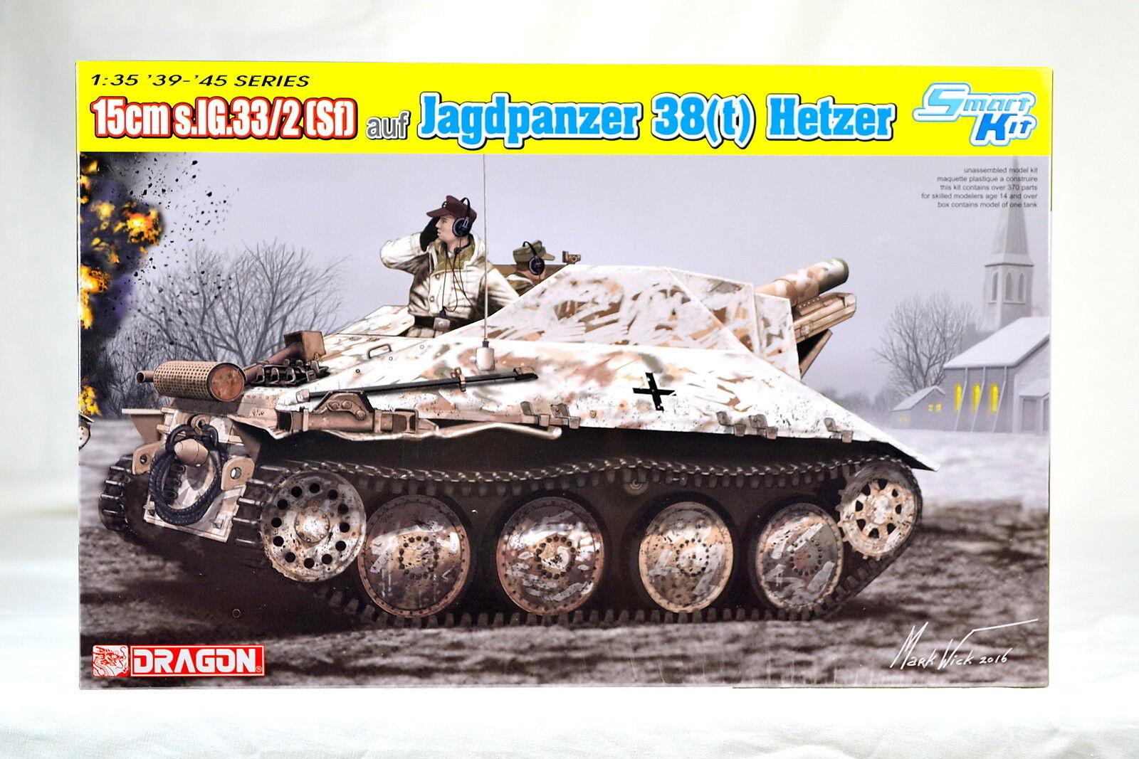 Dragon 6489 1 35 15cm s.IG.33 2(Sf) auf Jagdpanzer 38(t) Hetzer - Smart Kit