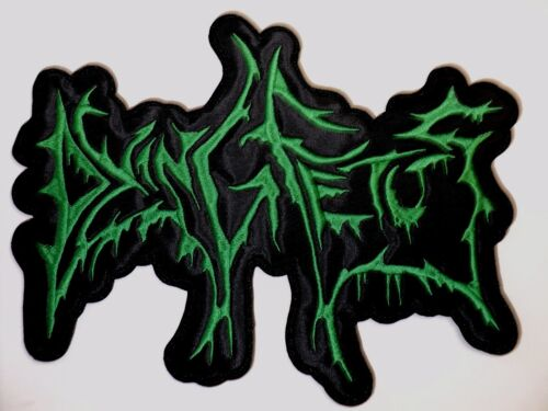 DYING FETUS GREEN SHAPED LOGO EMBROIDERED BACK PATCH