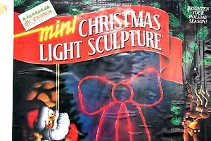 Mr-Christmas-Mini-Light-Sculpture-Bow-indoor-or-outdoor-24-034-Vintage-1993