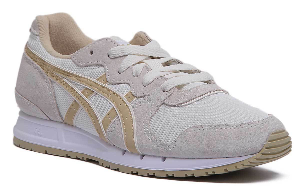 Asics Gel Movimentum Womens Suede Mesh Beige Trainers UK Size 3 - 8