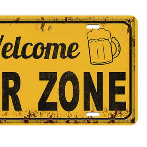 Vintage Style Metal Tin Sign Poster Wall Plaque for Pub Bar Tavern Beer Zone