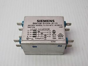 Details about SIEMENS NOISE FILTER B84108-S1004-A110 B84108S1004A110 - USED