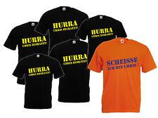 JGA T-Shirt drucken lassen Hurra xxxxxxx  heiratet!  Scheisse ich bin xxxxxxx !