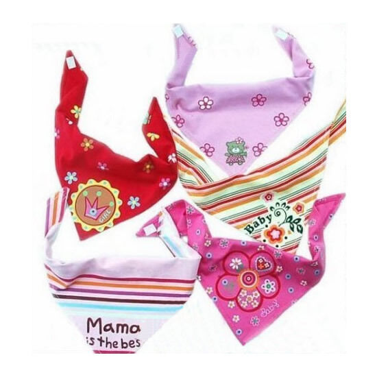Baby Girl Boy Kids Newborn Bandana Bib Saliva Towel Dribble Triangle Head Scarf