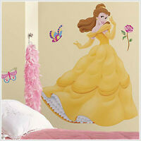 Disney Princess Belle Wall Stickers Mural Decals Room Decor 38 Tall W/gems