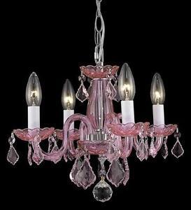 Xfive Beautiful Pink Venetian Style Crystal Chandelier Ebay