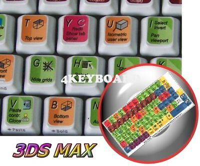 NEW AUTODESK 3DS MAX STICKER FOR KEYBOARD