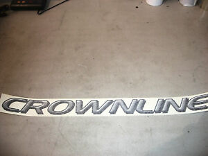 NEW OEM CROWNLINE BOAT UPGRADE SILVER NAMEPLATE 22073