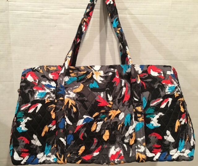 201b9631cc Vera Bradley SPLASH FLORAL LARGE DUFFEL Travel Bag Weekend Tote Bag New  15826