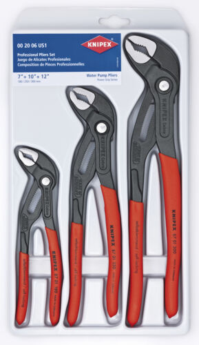 and 12-Inch Set 10 KNIPEX Tools 00 20 06 US1 Cobra Pliers 7 NEW 3-Piece