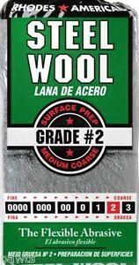 12 Pad Steel Wool Grade 2 - Medium Coarse