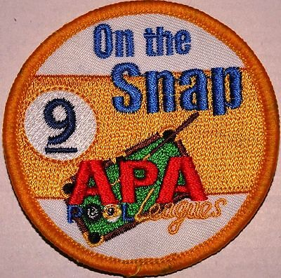 Other Billiards Just Apa American Poolplayers Associaition Round 9 On The Snap Patch