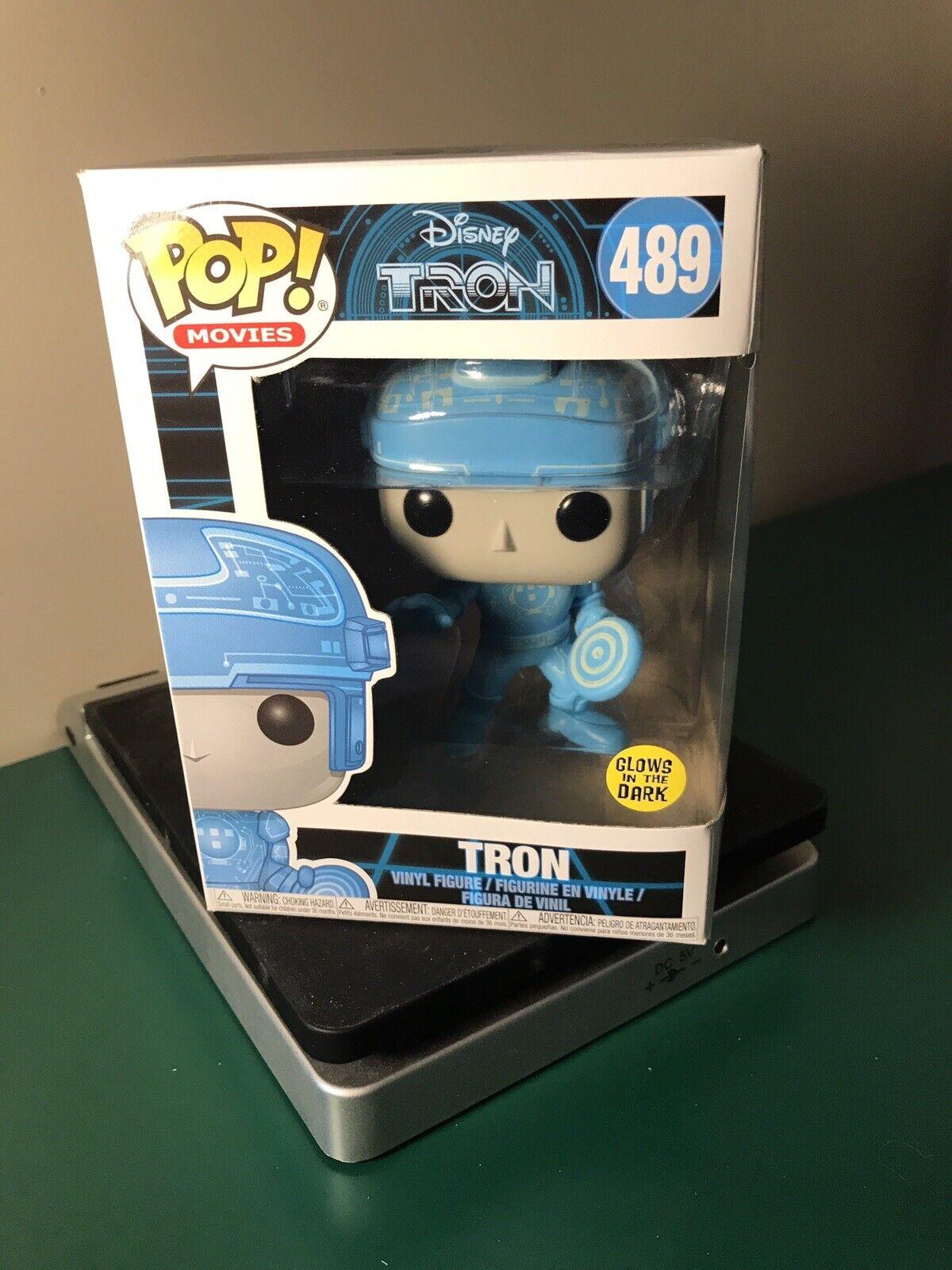 Tron Disney Glow In The Dark POP Movies #589 Vinyl Figure FUNKO