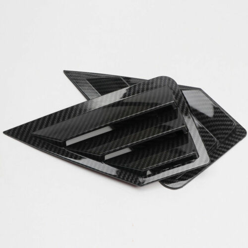 Carbon Fiber Look Rear Window Shutter Cover Trim 2pcs For Toyota C-HR 2016-2019