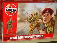 Airfix - World War Ii British Paratroops Plastic Model Figure Kit - 1:32