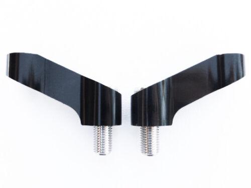 Pair Motorcycle Mirror Extenders-Riser-Extension Bracket Black 10mm Suit Suzuki