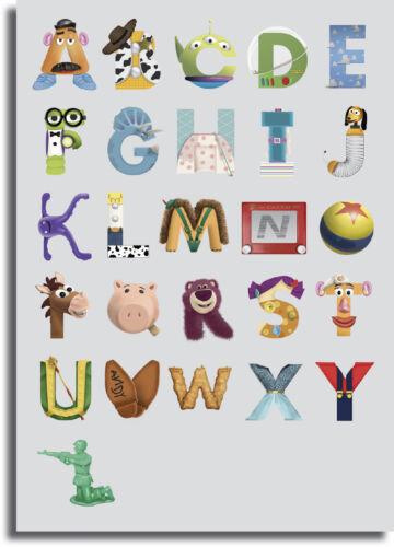 Toy Story Alphabet ABC Art Framed Giant CANVAS PRINT A0 A1 A2 A3 A4 Sizes