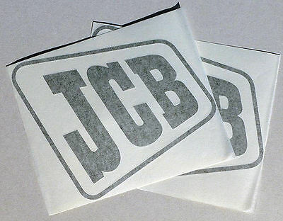 2x Older Style 'jcb' Digger Logo Decal Self-adhesive Vinyl Stickers