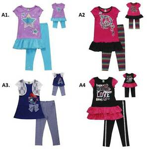 "Dollie and Me  6X 7 8 12 gril & 18"" doll matching outfit set fit american girl"