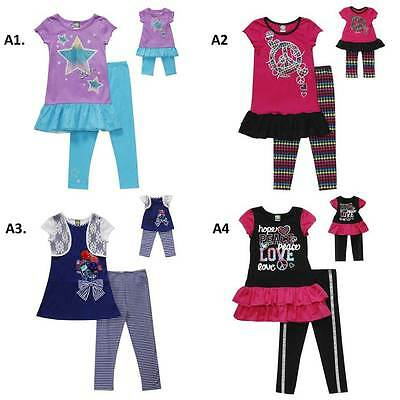 """Dollie and Me  6X 7 8 12 gril & 18"""" doll matching outfit set fit american girl"""