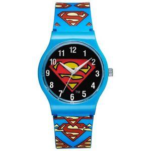 Warner-Bros-Uhr-SM-02-Superman-Kinderuhr-Jungen-Uhr-Boys-Watch-Blau-NEU-amp-OVP