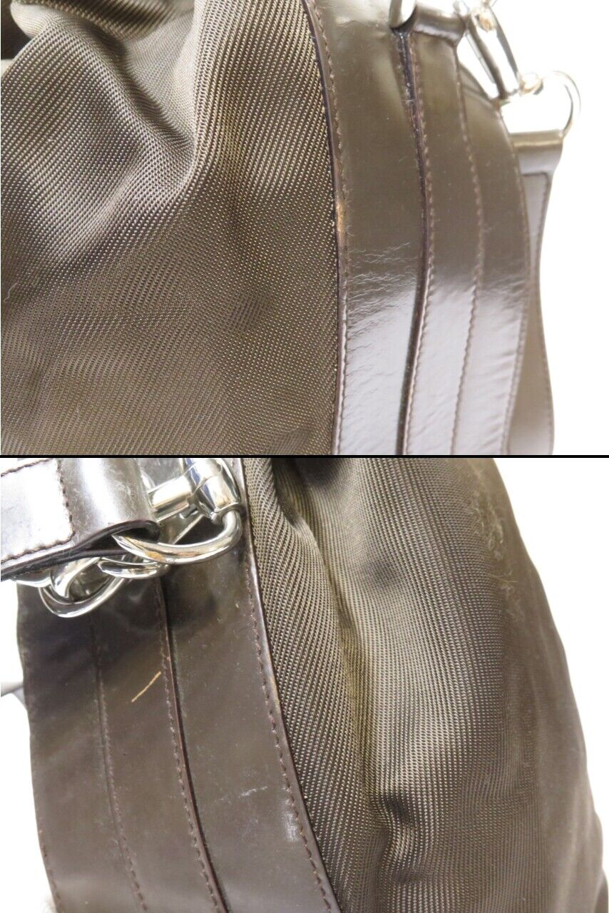 Authentic Vintage GUCCI Bamboo Nylon Leather Hand… - image 12
