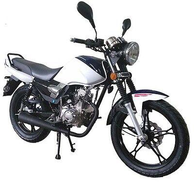 Razory R100 50ccm Schaltmoped Motorrad Naked-Bike Weiss Motorrad Senke