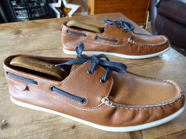 Mens M&S leather deck shoes - size uk 10 great condition
