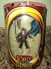 LORD OF THE RINGS LOTR FRODO ELVEN CLOAKED SWORD ACTION FIGURE RING TOY BIZ