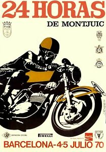 US SELLER Barcelona 1970 Motorcycle  motor poster home decor outlet