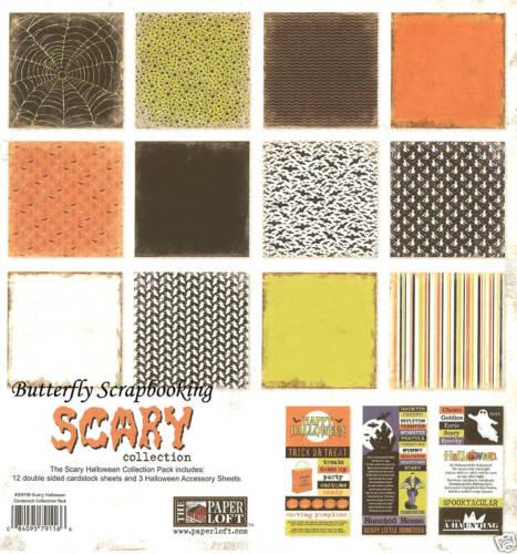 HALLOWEEN SCARY 12X12 Scrapbooking Kit Paper Loft Paper /& Stickers Halloween Kit